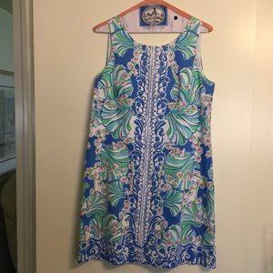 Lilly Pulitzer Cathy Shift Bay Blue Coasting Dress